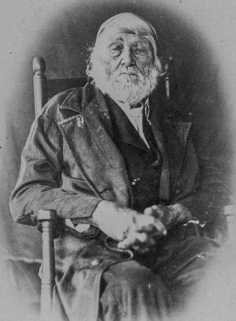 Veteran of the American Revolution War Adam Link photographed in 1864 at the age of 102.