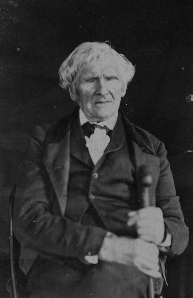 American Revolutionary War Veteran, Alexander Millener, photographed in a suit at the age of 104 in 1864.