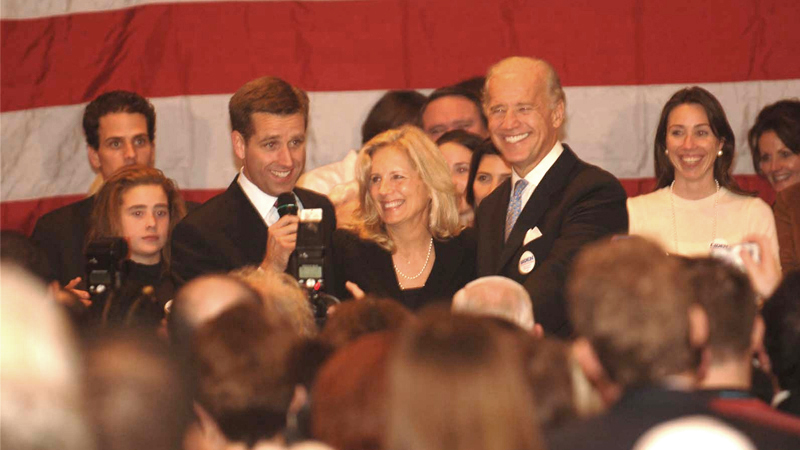 Beau Biden with his family