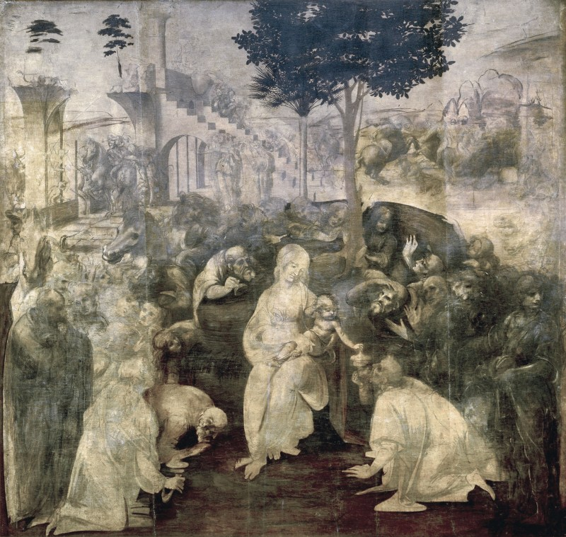 Unfinished painting by Leonardo Da Vinci
