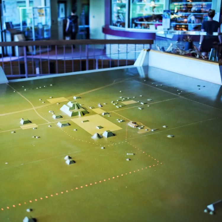 A model of Cahokia inside the Visitor's Center