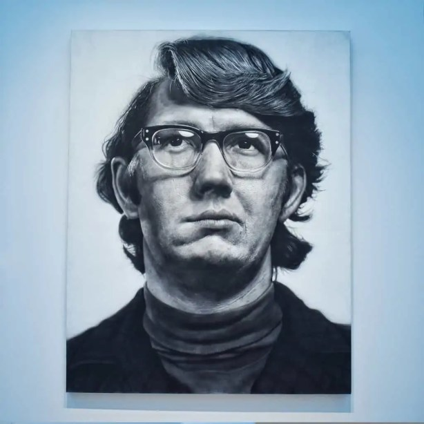 A Chuck Close in the Contemporary Arts wing at the St. Louis Art Museum