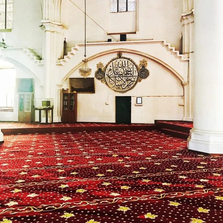 The interior of the Solimiye Mosque