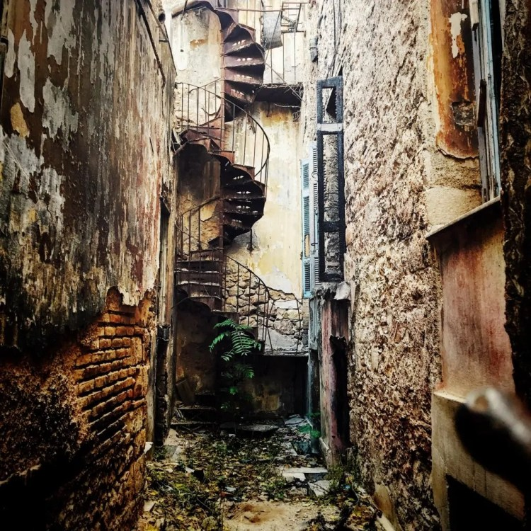 A crumbling staircase in Thisio. Athens is both gritty and beautiful.