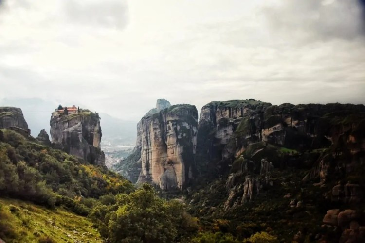 "Holy Trinity Monastery in Meteora, the scene for the James Bond movie ""For Your Eyes Only"""