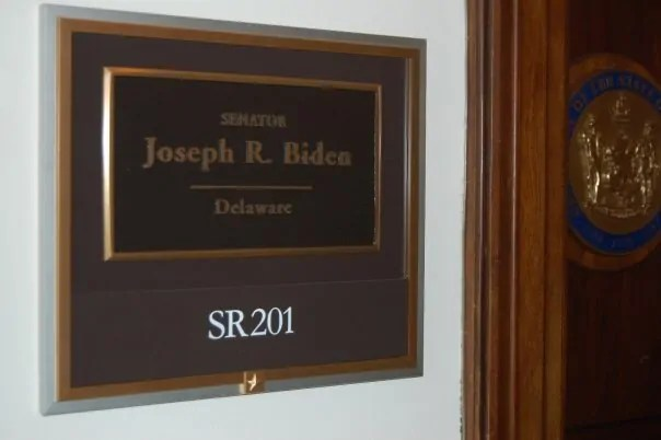 Stopping to peek into Joe Biden's office