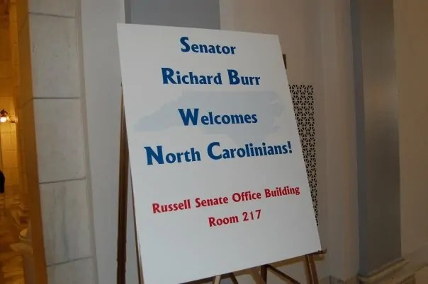 The senate office buildings were crawling with people from all over the country.