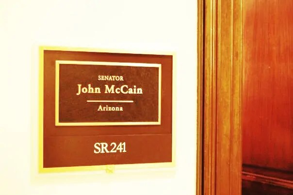 And then dropping by John McCain's office