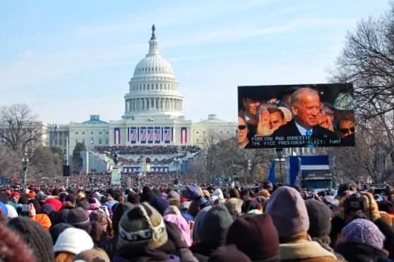 Joe Biden getting sworn in as Vice President