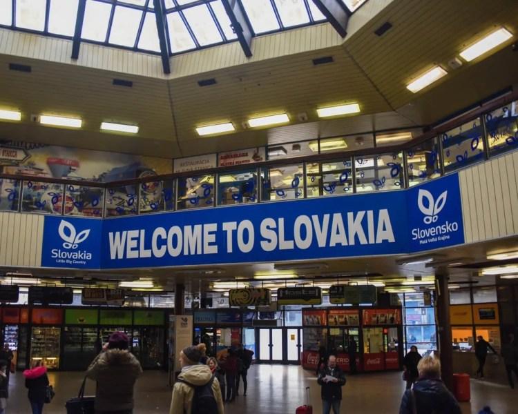 Arriving in Bratislava