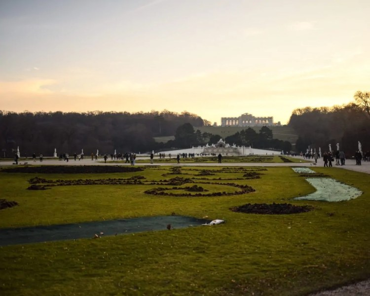 The Gloriette at the top of the hill
