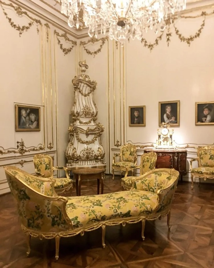 The interiors of Schoenbrunn are incredible