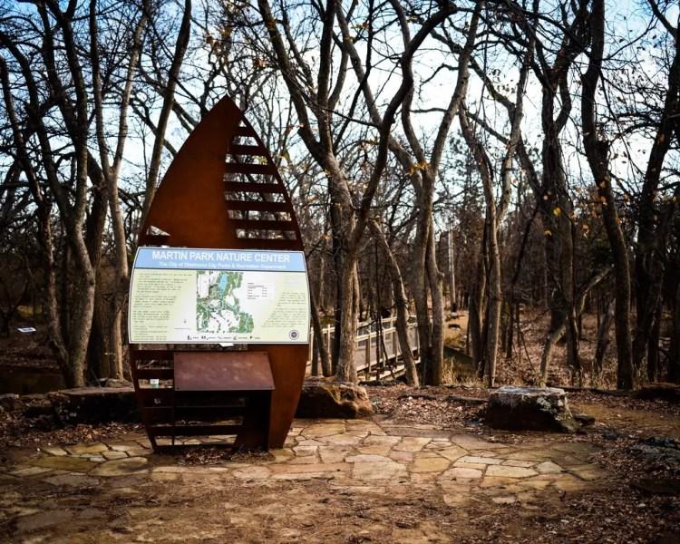 The entrance to Martin Park Nature Center