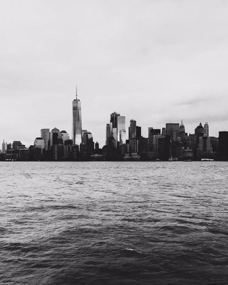 Sailing back to Manhattan through New York Harbor