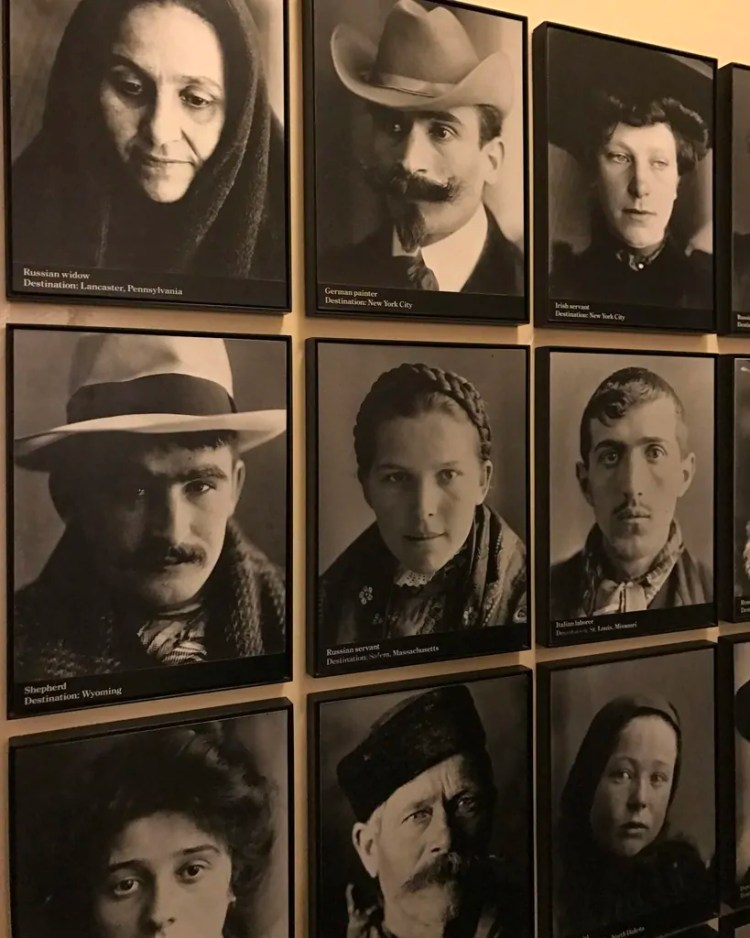 Portraits of Immigrants who went through Ellis Island