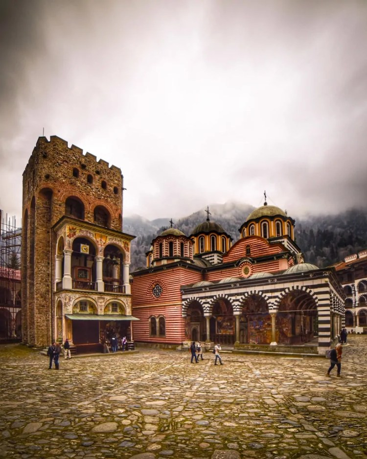 Hrelyo's Tower and the Nativity of the Holy Virgin Church at Rila Monastery