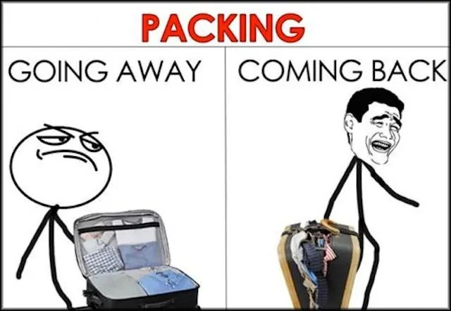 packing vacation meme