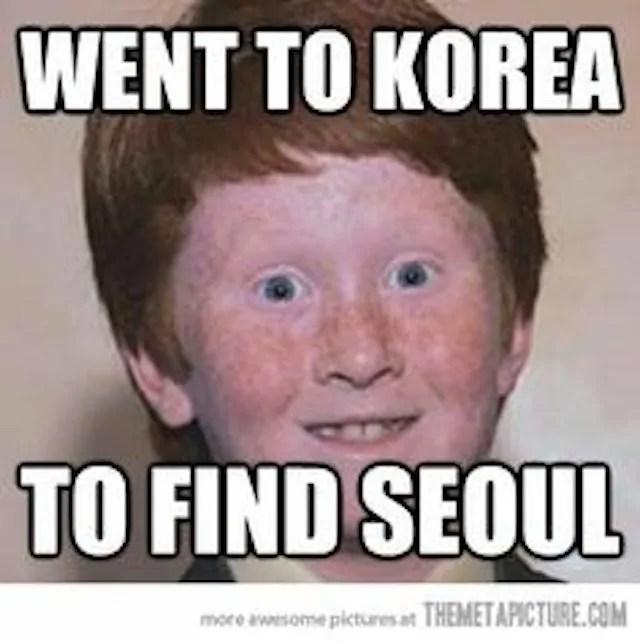 korea travel meme
