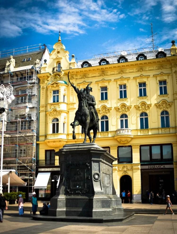 Statue of Josip Jelačić in Jelačić Square