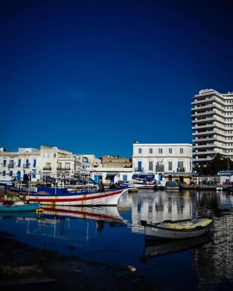 The Bizerte harbor