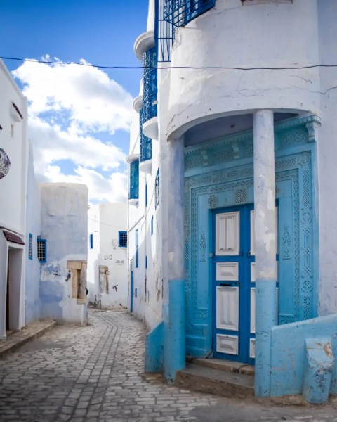 Like the town of Sidi Bou Said, Kairouan's medina is also blue and white. But I found it far less touristy and a little more interesting.