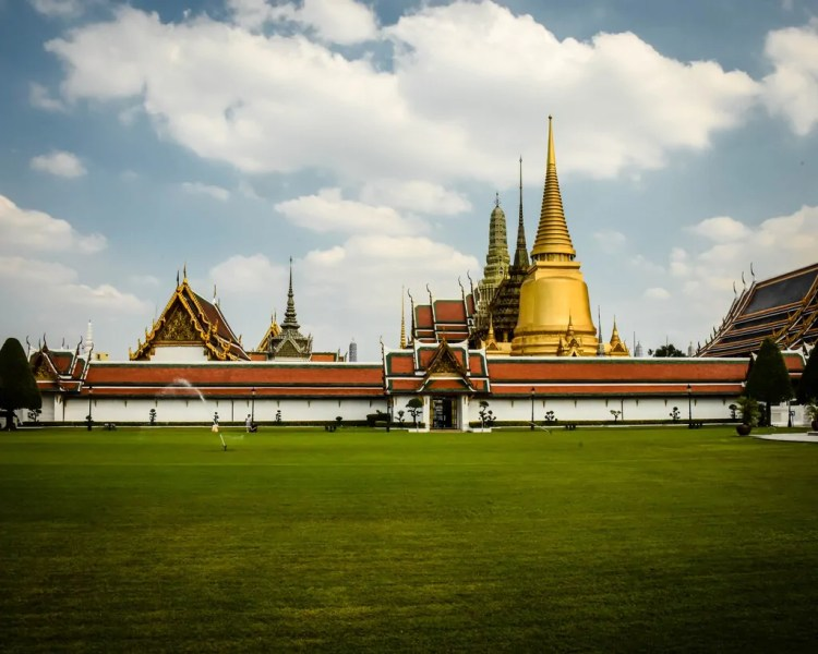 View of the Temple of the Emerald Buddha in Bangkok