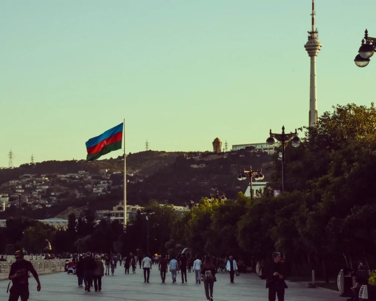 Azerbaijan - Baku - Flag