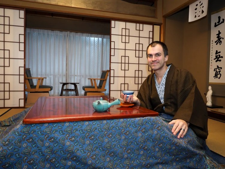 Me at Hoon-in Shukubo (temple stay), Koyasan. Photo credit by Nick Kembel. Used with permission.