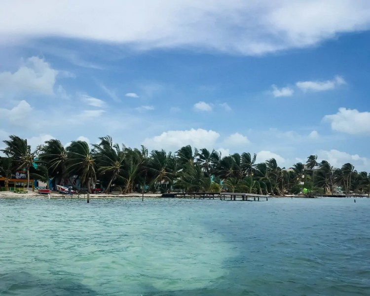 On the water taxi from San Pedro to Caye Caulker