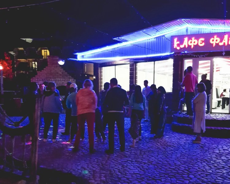 Cafe Faluja at night