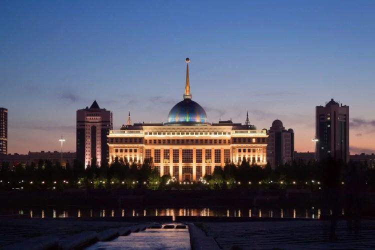 The Ak Orda Presidential Palace in Astana, home to President Nursultan Nazarbayev
