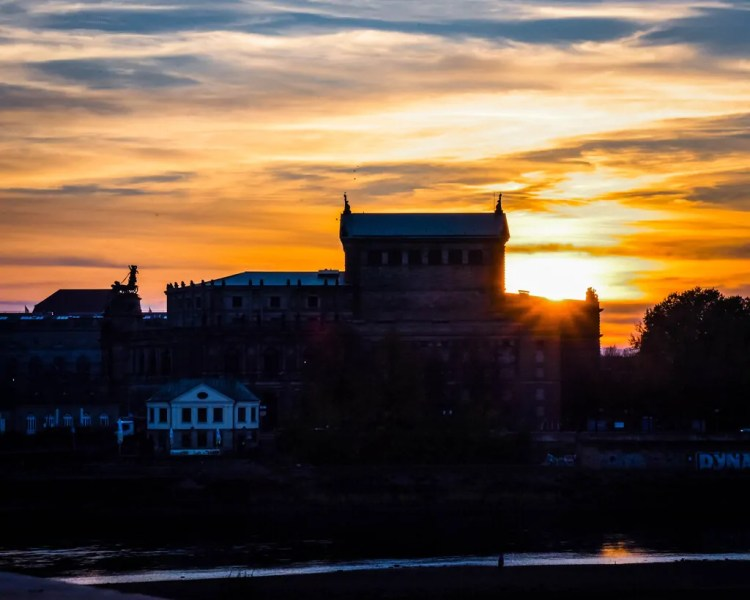 Germany - Dresden - Semperoper at Sunset