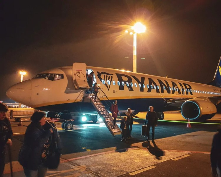 Germany - Dresden - Airport Plane Ryanair
