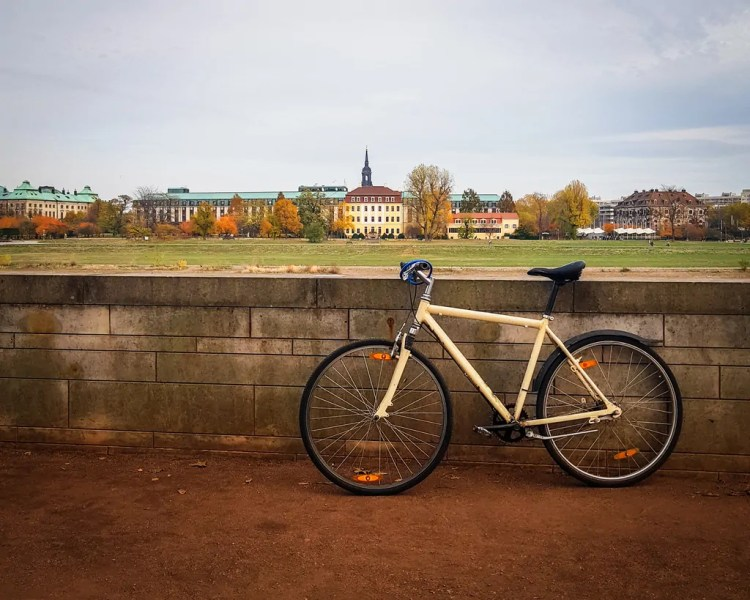 Germany - Dresden - Bicycle by the Elbe