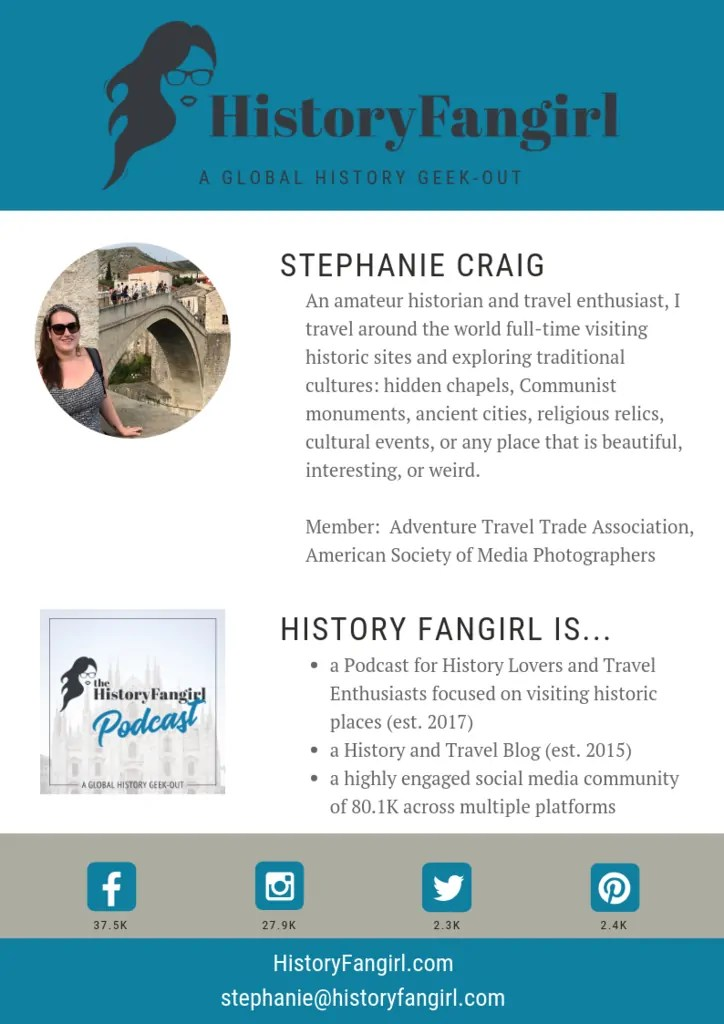 HISTORY FANGIRL MEDIA KIT