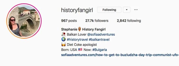 History Fangirl Instagram
