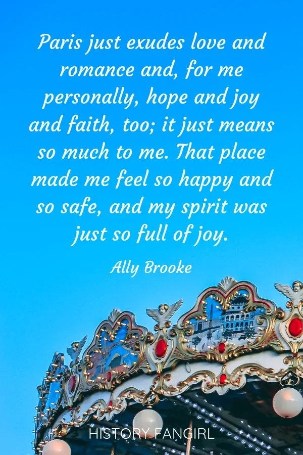 Ally Brooke Romantic Paris Quotes for Couples