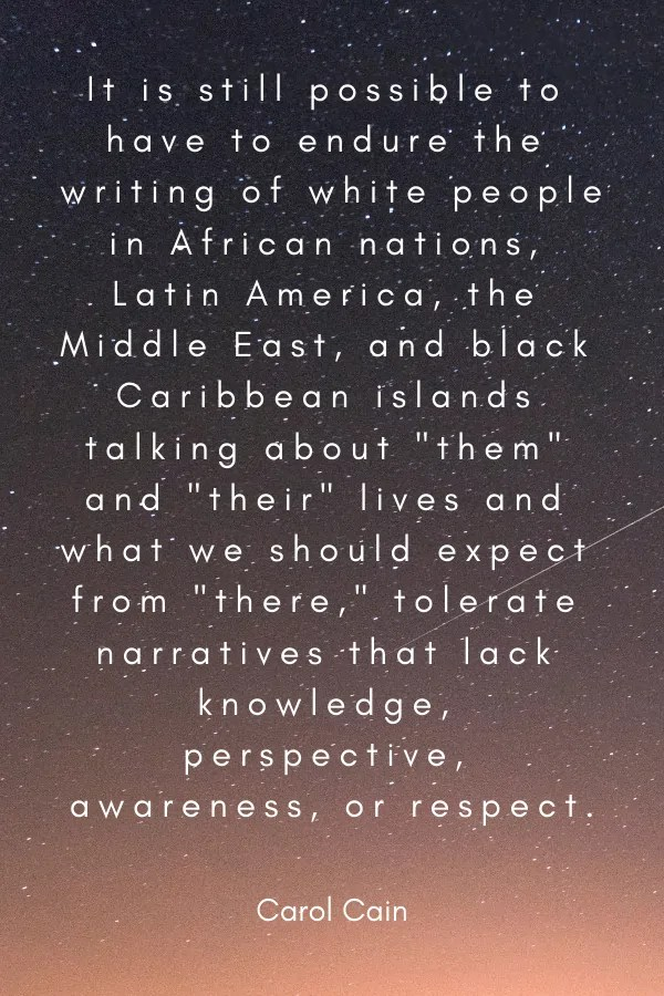 Caron Cain Travel Quote about Diversity in Travel