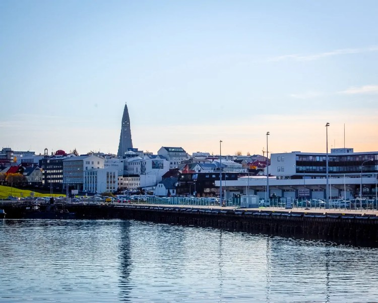 Iceland - Reykjavik - Picture of the town from the Harbor