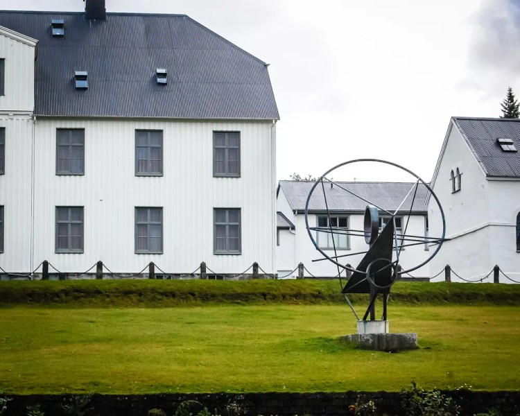 Iceland - Reykjavik - The Face of the Sun Statue