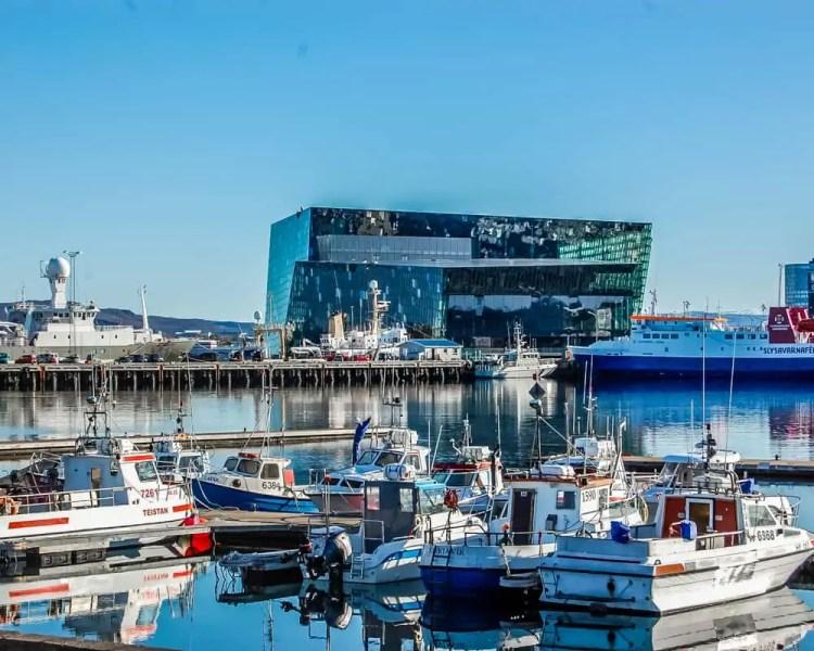 Iceland - Reykjavik - Old Harbor an Harpa
