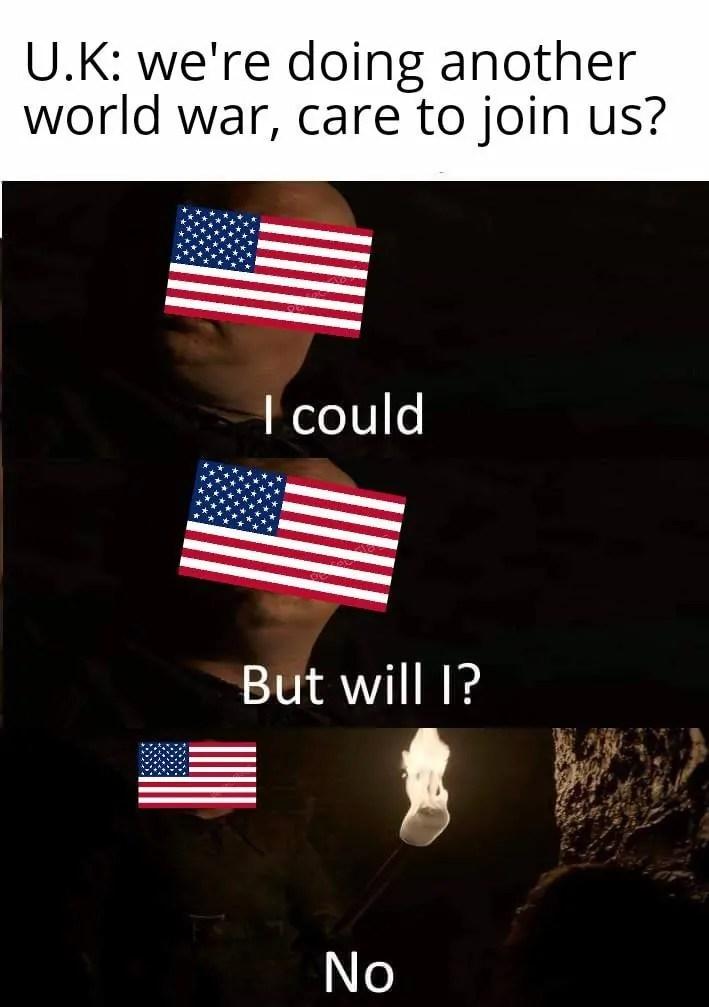 America in WW2 Memes