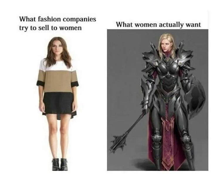 female armor memes