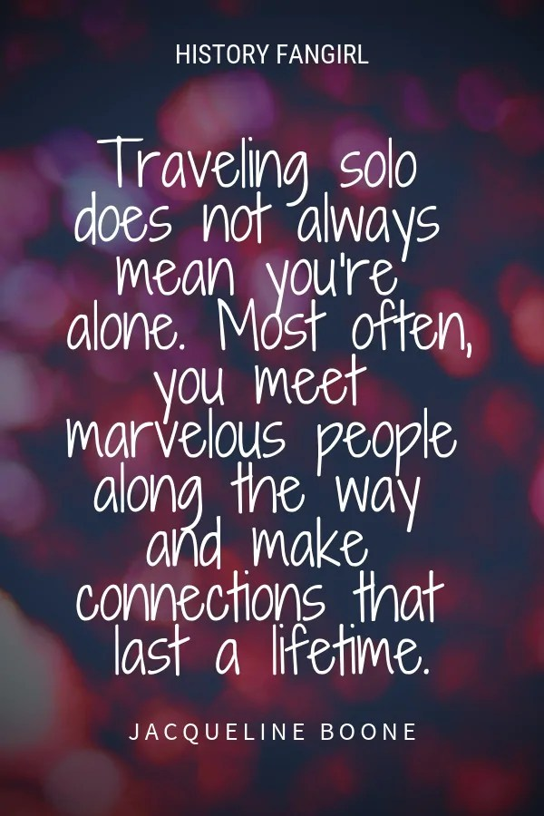 traveling solo quote
