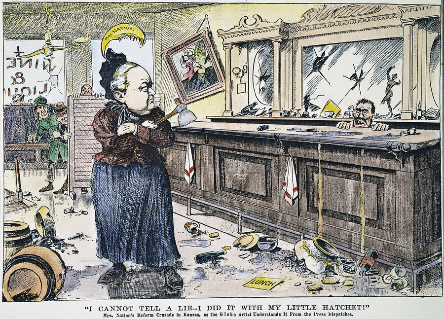 Prohibition     History For Free carrie nation cartoon