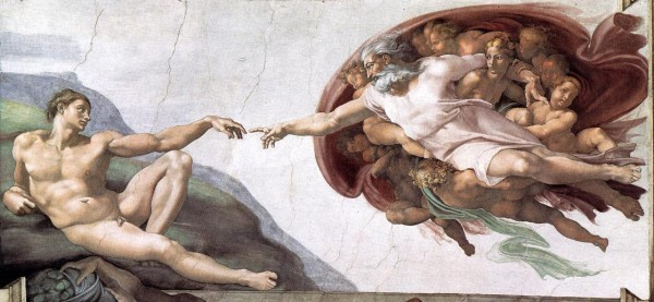 The Creation of Adam, courtesy of Art and the Bible at artbible.info