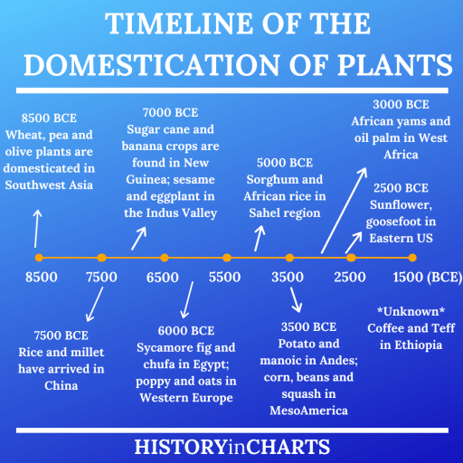 Timeline of the Domestication of Plants chart