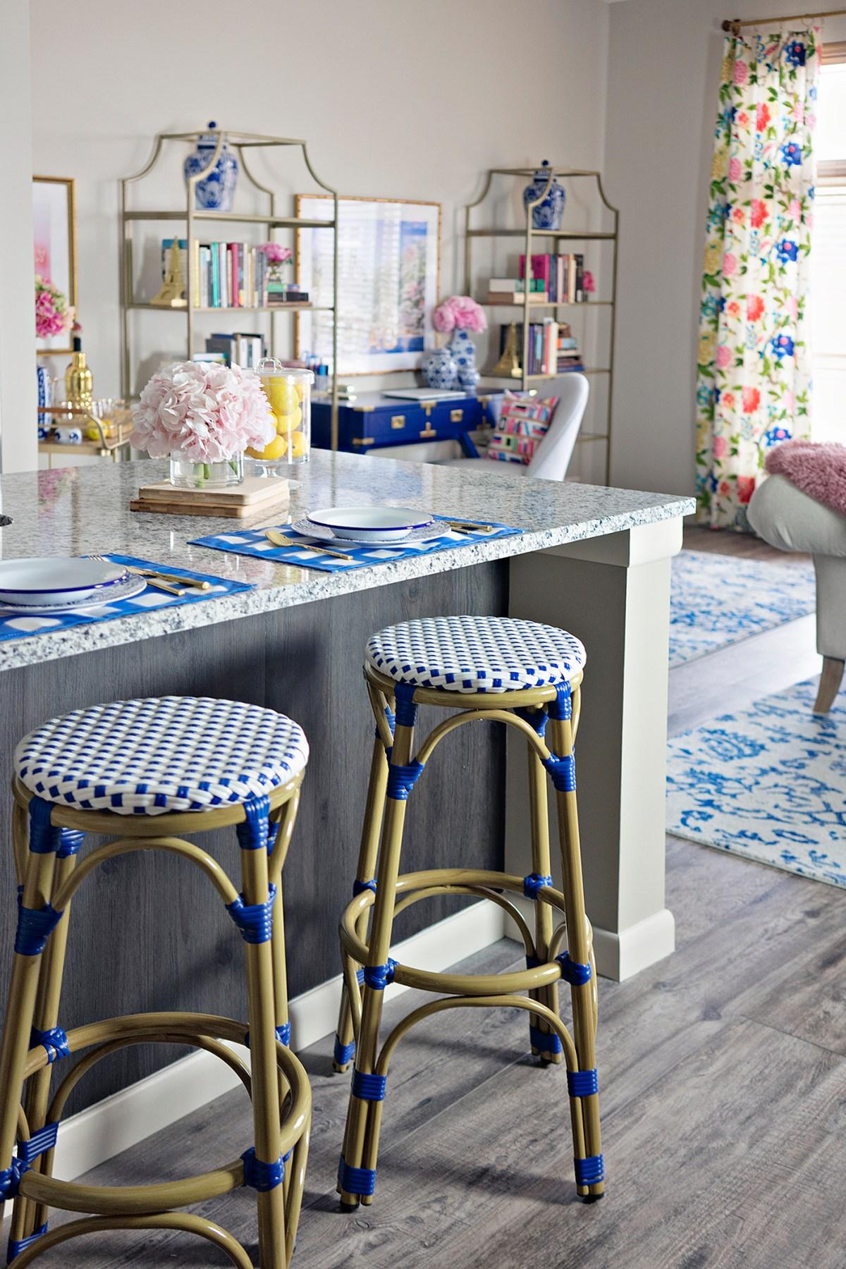 Colorful, Preppy Decor for Small Spaces