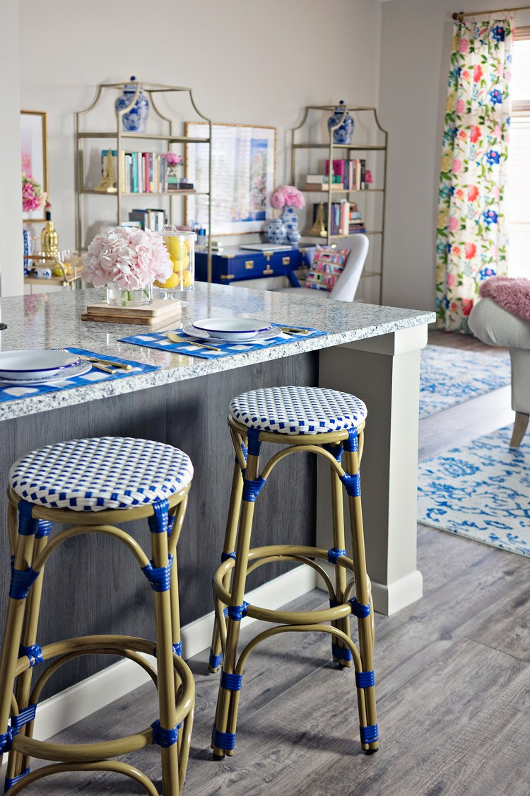 Colorful, Preppy Decor for Small Spaces