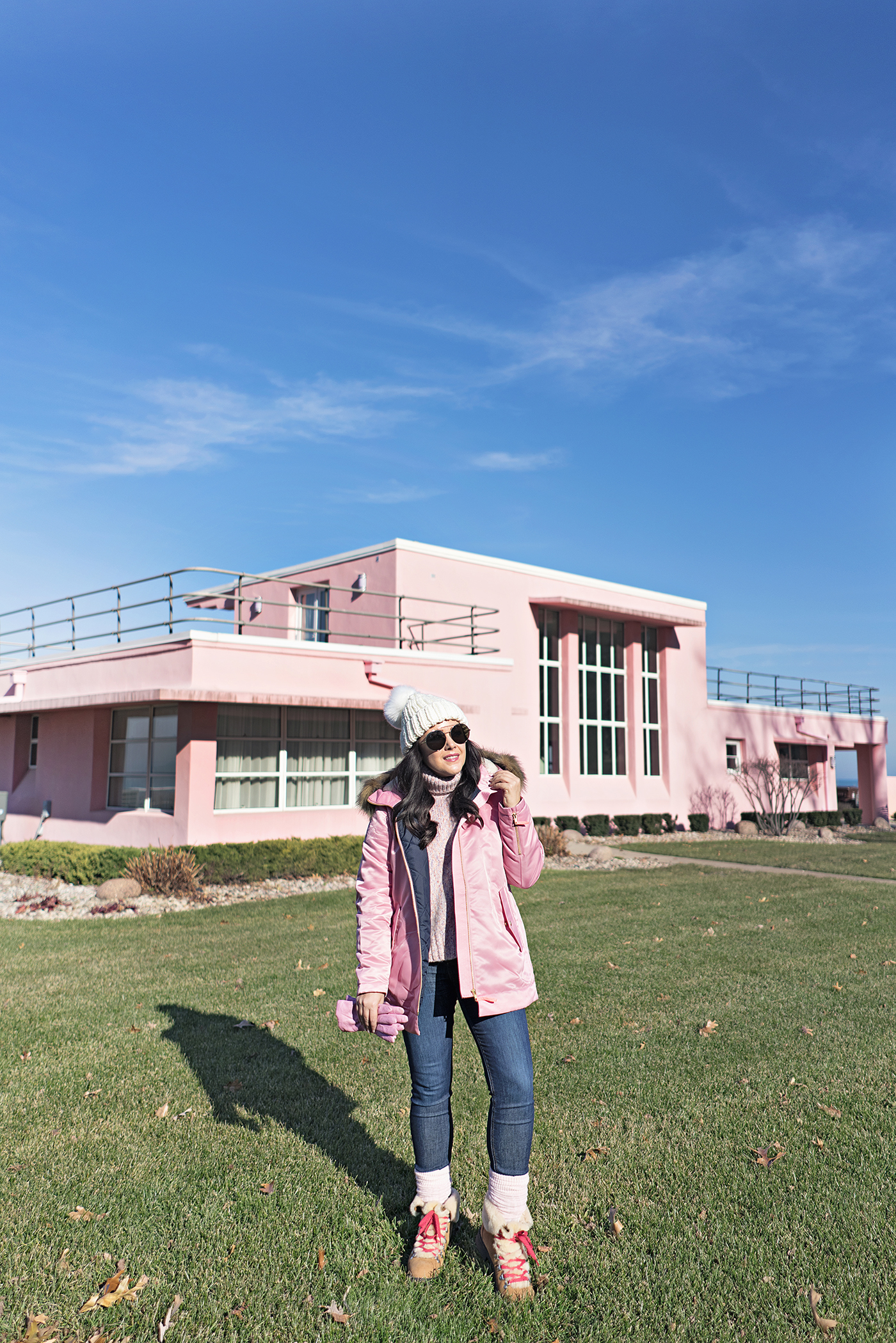 Bundled in Pink in Indiana, Pink Century of Progress Pink House